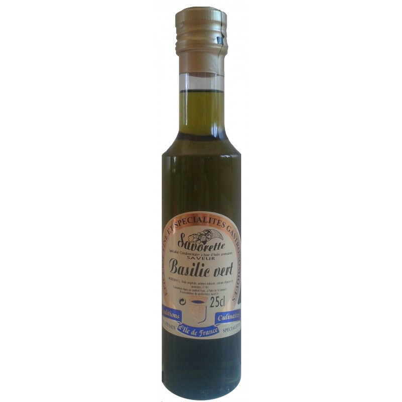 Huile Savorette aromatisée Basilic vert